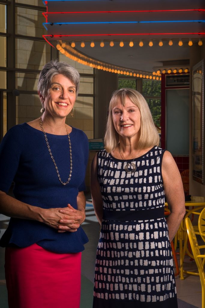 """Medical school classmates Gail Allen, MD (left), and Elizabeth Neary, MD, shared a pediatrics residency to be able to maintain work-life balance, which Neary describes as """"more like a seesaw effect."""""""