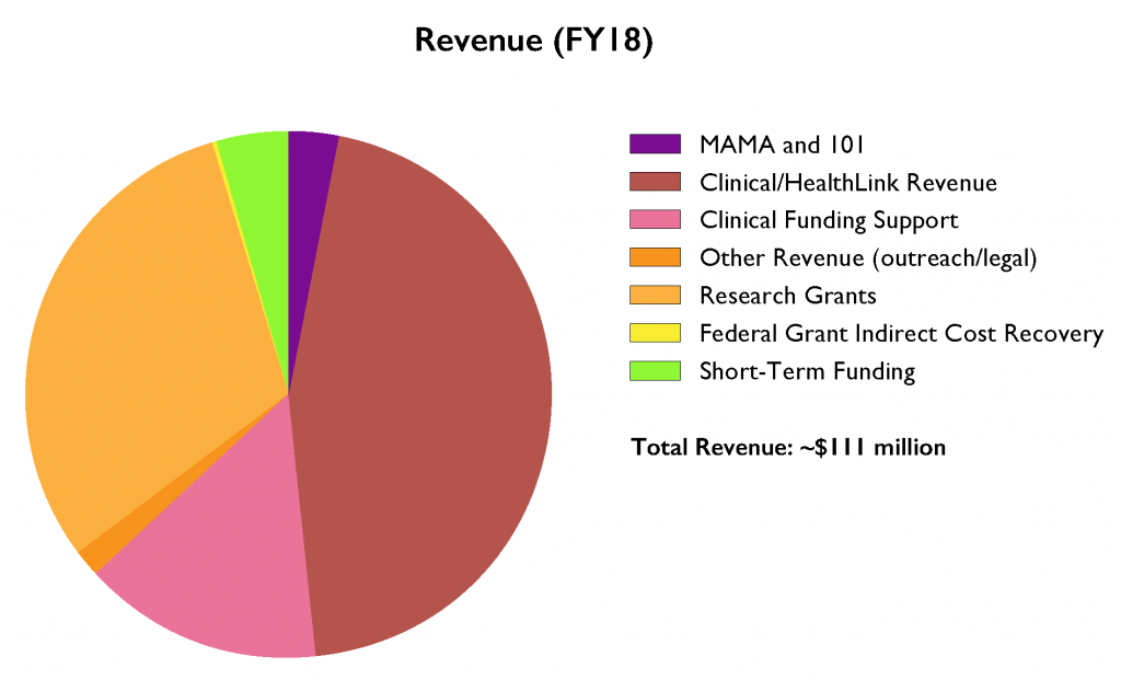2018 Revenue pie chart