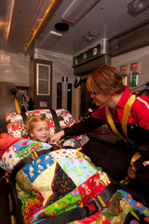 CHETA is a mobile PICU, with the team and equipment needed to handle any unanticipated events on the way back to the hospital.