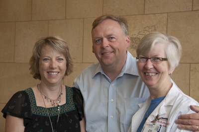 The Failure to Thrive clinic team, from left: nurse practitioner Catherine Nelson, APNP; Dr. Sigurdsson; and nutritionist Shirley McCallum, RD.