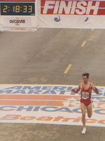 Dr. Allen completes the 1986 Chicago Marathon with a time of 2:18:33, qualifying him for the US Olympic Trials.